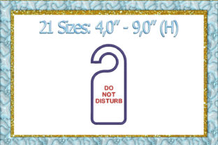 Print on Demand: Do Not Disturb Door Hanger ITH Applique House & Home Embroidery Design By larisaetsy