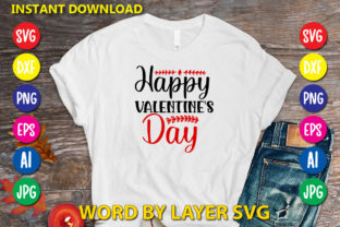 Happy Valentine's Day Graphic Print Templates By RSvgzone
