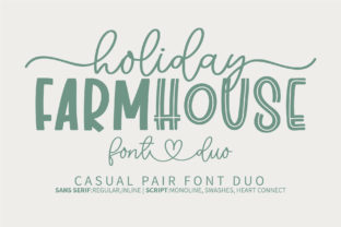 Print on Demand: Holiday Farmhouse Script & Handwritten Font By BitongType