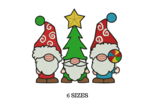 Holiday Gnomes Christmas Embroidery Design By SVG Digital Designer
