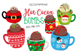 Print on Demand: Hot Cocoa Bombs Graphic Illustrations By DigitalPapers