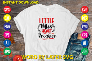 Little Miss Heart Breaker Graphic Print Templates By RSvgzone