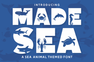 Print on Demand: Made Sea Decorative Font By Dito (7NTypes)