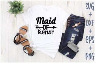 Print on Demand: Maid of Honor Graphic Print Templates By Creative_Artist