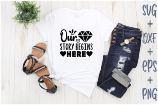 Print on Demand: Our Story Begins Here Graphic Print Templates By Creative_Artist