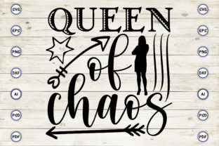 Queen of Chaos Graphic Print Templates By Craftartdigital21