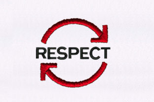 Reciprocating Respect Awareness Embroidery Design By StitchersCorp