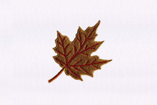 Red Maple Leaf Forest & Trees Embroidery Design By StitchersCorp