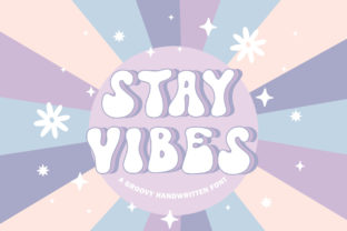 Print on Demand: Stay Vibes Display Font By jimtypestudio