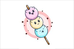 Sweet Japanese Dango Illustration Graphic Illustrations By neves.graphic777