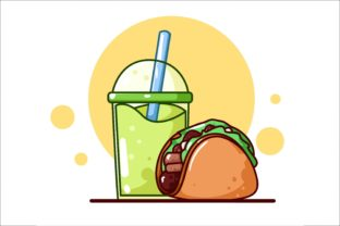 Sweet Tacos with Apple Juice Graphic Illustrations By neves.graphic777