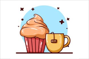 Tea and Pancake Icon Illustration Graphic Illustrations By neves.graphic777