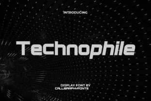 Print on Demand: Technophile Display Font By CalligraphyFonts