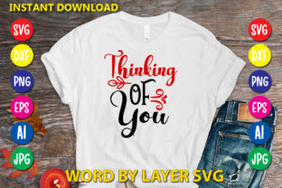 Thinking of You Graphic Print Templates By RSvgzone