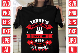 Today's Forecast Sunny with a Chance of Graphic Print Templates By Creative Studio20