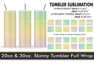 Print on Demand: Tumbler Sublimation Striped Summer Graphic Crafts By Artnoy