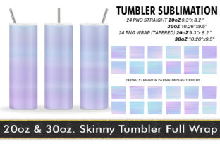 Print on Demand: Tumbler Sublimation Striped Unicorn Graphic Crafts By Artnoy