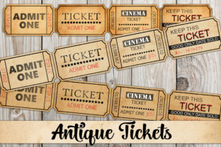 Print on Demand: Vintage Style Beige Grunge Tickets Graphic Objects By Digital Attic Studio