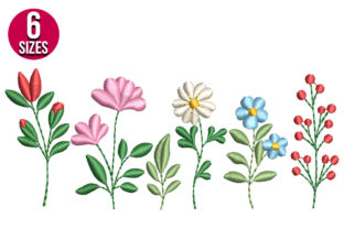 Print on Demand: Wildflowers Bouquets & Bunches Embroidery Design By Nations Embroidery
