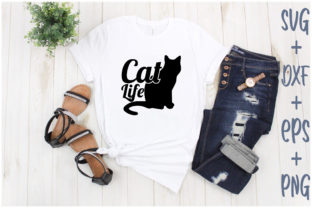 Print on Demand: Cat Life Graphic Print Templates By Creative_Artist