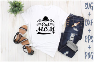 Print on Demand: Cat Mom Graphic Print Templates By Creative_Artist