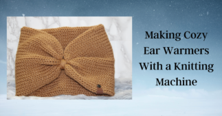 Free Pattern: Making Cozy Ear Warmers with Faux Leather Tags