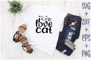 Print on Demand: I Love Cat Graphic Print Templates By Creative_Artist
