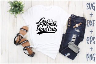 Print on Demand: Less People More Cats Graphic Print Templates By Creative_Artist