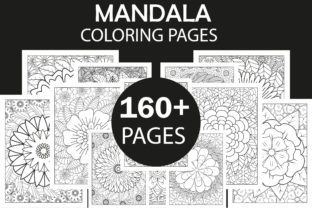 160+ Mandala Coloring Pages Bundle - KDP Graphic Coloring Pages & Books Adults By Creative Design Studio