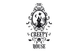 The Creepy House Halloween Craft Cut File By Creative Fabrica Crafts