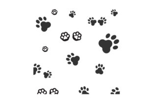 Paw Print Designs & Drawings Craft Cut File By Creative Fabrica Crafts