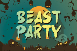 Print on Demand: Beast Party Display Font By letterhend
