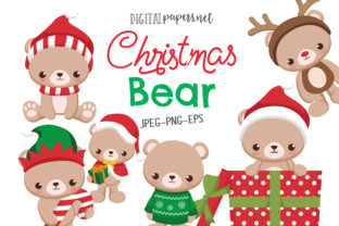 Print on Demand: Christmas Bear Graphic Illustrations By DigitalPapers