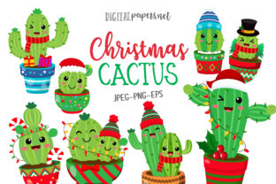 Print on Demand: Christmas Cactus Graphic Illustrations By DigitalPapers