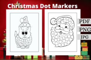 Christmas Dot Markers Coloring Book Graphic Coloring Pages & Books Kids By FM KDP INTERIOR