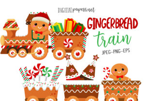 Print on Demand: Gingerbread Train Graphic Illustrations By DigitalPapers