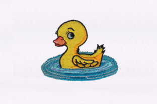 Playing Cute Duckling Birds Embroidery Design By StitchersCorp