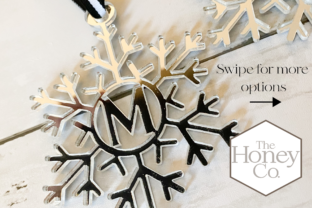 Snowflake Monogram Laser Cut Files SVG P Graphic 3D Shapes By The Honey Company