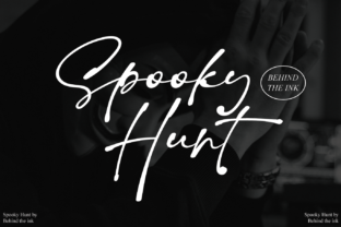 Print on Demand: Spooky Hunt Script & Handwritten Font By Behind the ink