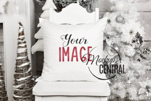 Square Mockup Christmas Pillow JPG Graphic Product Mockups By Mockup Central