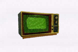 Tuning Television House & Home Embroidery Design By StitchersCorp