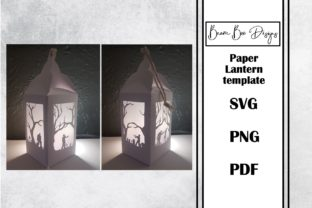 Zombie Halloween Paper Lantern Template Graphic 3D Houses By Beam Box Designs
