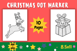 Print on Demand: CHRISTMAS DOT MARKER ACTIVITY PAGES Graphic Coloring Pages & Books Kids By The students Palace