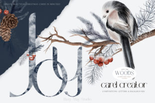 Print on Demand: Christmas Card Creator Snow Birds PNG Graphic Illustrations By Busy May Studio