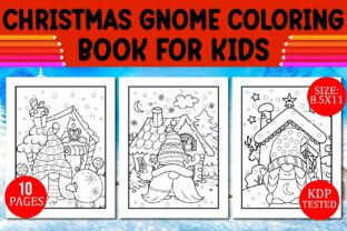 Print on Demand: Christmas Gnome Coloring Book for Kids Graphic Coloring Pages & Books Kids By Design Empire