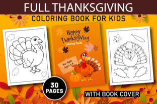 Print on Demand: FULL THANKSGIVING COLORING BOOK for KIDS Graphic Coloring Pages & Books Kids By Kids_Zone