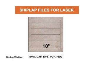 Print on Demand: Shiplap SVG for Laser   Glowforge Backer Graphic Backgrounds By Mockup Station