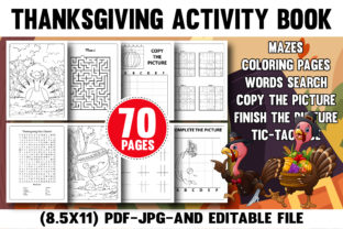 Thanksgiving Activity Book for Amazon Graphic Coloring Pages & Books Kids By Money Maker