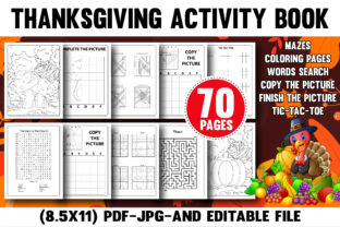 Thanksgiving Activity Book for Amazon Graphic Coloring Pages & Books Kids By Daily Design