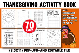 Thanksgiving Activity Book for Kids Kdp Graphic Coloring Pages & Books Kids By Rainbow Ant